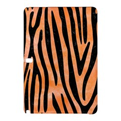 Skin4 Black Marble & Orange Watercolor (r) Samsung Galaxy Tab Pro 10 1 Hardshell Case by trendistuff