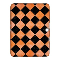 Square2 Black Marble & Orange Watercolor Samsung Galaxy Tab 4 (10 1 ) Hardshell Case  by trendistuff