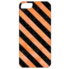 Stripes3 Black Marble & Orange Watercolor Apple Iphone 5 Classic Hardshell Case by trendistuff