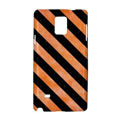 Stripes3 Black Marble & Orange Watercolor Samsung Galaxy Note 4 Hardshell Case by trendistuff