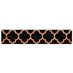 Tile1 Black Marble & Orange Watercolor (r) Flano Scarf (small) by trendistuff