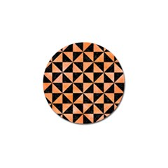 Triangle1 Black Marble & Orange Watercolor Golf Ball Marker (10 Pack)