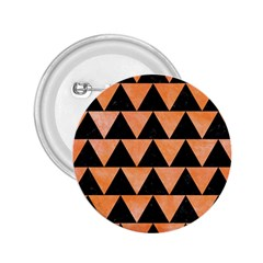 Triangle2 Black Marble & Orange Watercolor 2 25  Buttons by trendistuff