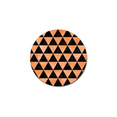 Triangle3 Black Marble & Orange Watercolor Golf Ball Marker (4 Pack) by trendistuff
