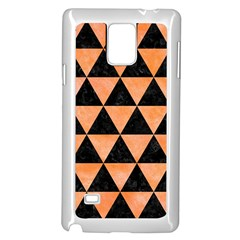 Triangle3 Black Marble & Orange Watercolor Samsung Galaxy Note 4 Case (white) by trendistuff