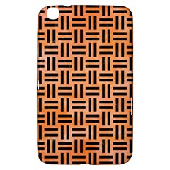Woven1 Black Marble & Orange Watercolor Samsung Galaxy Tab 3 (8 ) T3100 Hardshell Case  by trendistuff