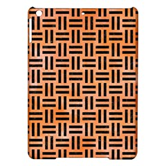 Woven1 Black Marble & Orange Watercolor Ipad Air Hardshell Cases
