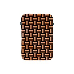 Woven1 Black Marble & Orange Watercolor (r) Apple Ipad Mini Protective Soft Cases by trendistuff