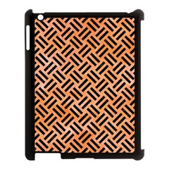 Woven2 Black Marble & Orange Watercolor Apple Ipad 3/4 Case (black) by trendistuff