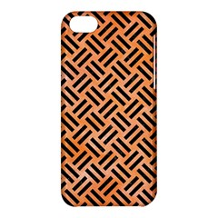 Woven2 Black Marble & Orange Watercolor Apple Iphone 5c Hardshell Case by trendistuff