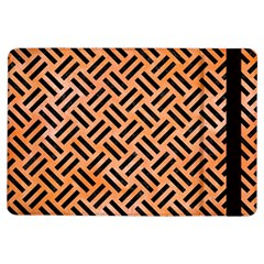 Woven2 Black Marble & Orange Watercolor Ipad Air Flip by trendistuff