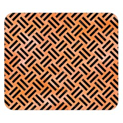 Woven2 Black Marble & Orange Watercolor Double Sided Flano Blanket (small)  by trendistuff