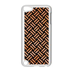 Woven2 Black Marble & Orange Watercolor (r) Apple Ipod Touch 5 Case (white) by trendistuff