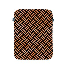 Woven2 Black Marble & Orange Watercolor (r) Apple Ipad 2/3/4 Protective Soft Cases by trendistuff