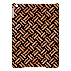 Woven2 Black Marble & Orange Watercolor (r) Ipad Air Hardshell Cases