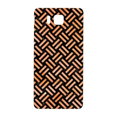 Woven2 Black Marble & Orange Watercolor (r) Samsung Galaxy Alpha Hardshell Back Case by trendistuff