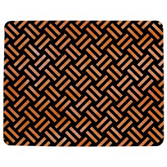 Woven2 Black Marble & Orange Watercolor (r) Jigsaw Puzzle Photo Stand (rectangular) by trendistuff