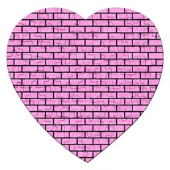 Brick1 Black Marble & Pink Colored Pencil Jigsaw Puzzle (heart) by trendistuff