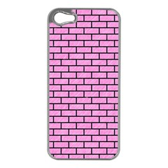 Brick1 Black Marble & Pink Colored Pencil Apple Iphone 5 Case (silver) by trendistuff