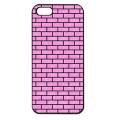 Brick1 Black Marble & Pink Colored Pencil Apple Iphone 5 Seamless Case (black) by trendistuff