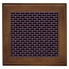 Brick1 Black Marble & Pink Colored Pencil (r) Framed Tiles by trendistuff