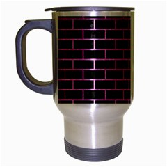 Brick1 Black Marble & Pink Colored Pencil (r) Travel Mug (silver Gray) by trendistuff