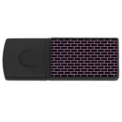 Brick1 Black Marble & Pink Colored Pencil (r) Rectangular Usb Flash Drive by trendistuff
