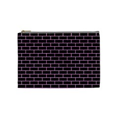 Brick1 Black Marble & Pink Colored Pencil (r) Cosmetic Bag (medium)  by trendistuff