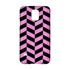 Chevron1 Black Marble & Pink Colored Pencil Samsung Galaxy S5 Hardshell Case  by trendistuff