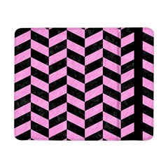 Chevron1 Black Marble & Pink Colored Pencil Samsung Galaxy Tab Pro 8 4  Flip Case by trendistuff