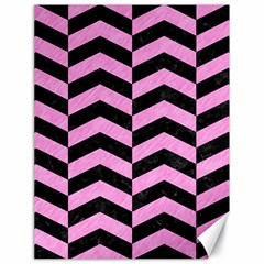 Chevron2 Black Marble & Pink Colored Pencil Canvas 18  X 24   by trendistuff