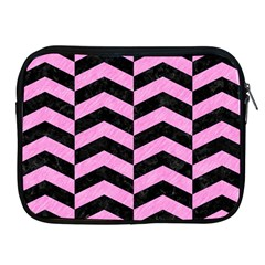 Chevron2 Black Marble & Pink Colored Pencil Apple Ipad 2/3/4 Zipper Cases by trendistuff