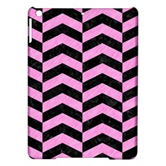 Chevron2 Black Marble & Pink Colored Pencil Ipad Air Hardshell Cases by trendistuff