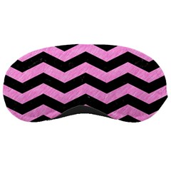 Chevron3 Black Marble & Pink Colored Pencil Sleeping Masks by trendistuff