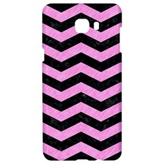 Chevron3 Black Marble & Pink Colored Pencil Samsung C9 Pro Hardshell Case