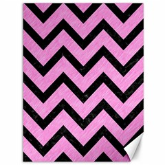 Chevron9 Black Marble & Pink Colored Pencil Canvas 36  X 48   by trendistuff