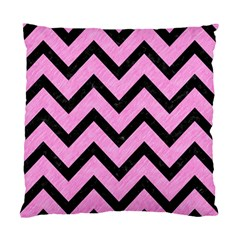 Chevron9 Black Marble & Pink Colored Pencil Standard Cushion Case (two Sides) by trendistuff