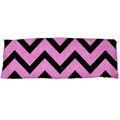 Chevron9 Black Marble & Pink Colored Pencil Body Pillow Case Dakimakura (two Sides)