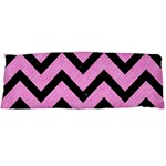 CHEVRON9 BLACK MARBLE & PINK COLORED PENCIL Body Pillow Case Dakimakura (Two Sides) Back