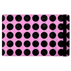 Circles1 Black Marble & Pink Colored Pencil Apple Ipad 2 Flip Case by trendistuff