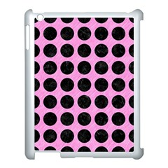 Circles1 Black Marble & Pink Colored Pencil Apple Ipad 3/4 Case (white) by trendistuff