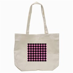 Circles1 Black Marble & Pink Colored Pencil (r) Tote Bag (cream) by trendistuff
