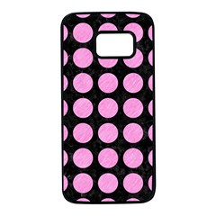 Circles1 Black Marble & Pink Colored Pencil (r) Samsung Galaxy S7 Black Seamless Case