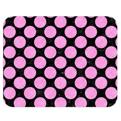Circles2 Black Marble & Pink Colored Pencil (r) Double Sided Flano Blanket (medium)  by trendistuff