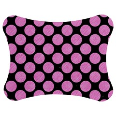 Circles2 Black Marble & Pink Colored Pencil (r) Jigsaw Puzzle Photo Stand (bow) by trendistuff