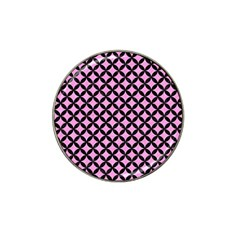 Circles3 Black Marble & Pink Colored Pencil Hat Clip Ball Marker (4 Pack) by trendistuff