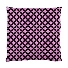 Circles3 Black Marble & Pink Colored Pencil Standard Cushion Case (one Side) by trendistuff