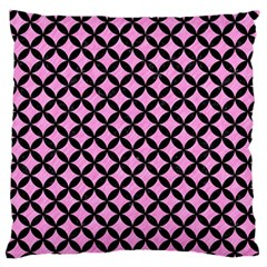 Circles3 Black Marble & Pink Colored Pencil Standard Flano Cushion Case (one Side) by trendistuff