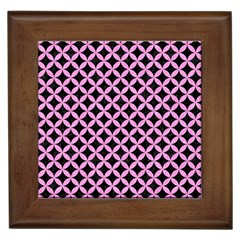 Circles3 Black Marble & Pink Colored Pencil (r) Framed Tiles by trendistuff