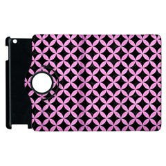 Circles3 Black Marble & Pink Colored Pencil (r) Apple Ipad 2 Flip 360 Case by trendistuff